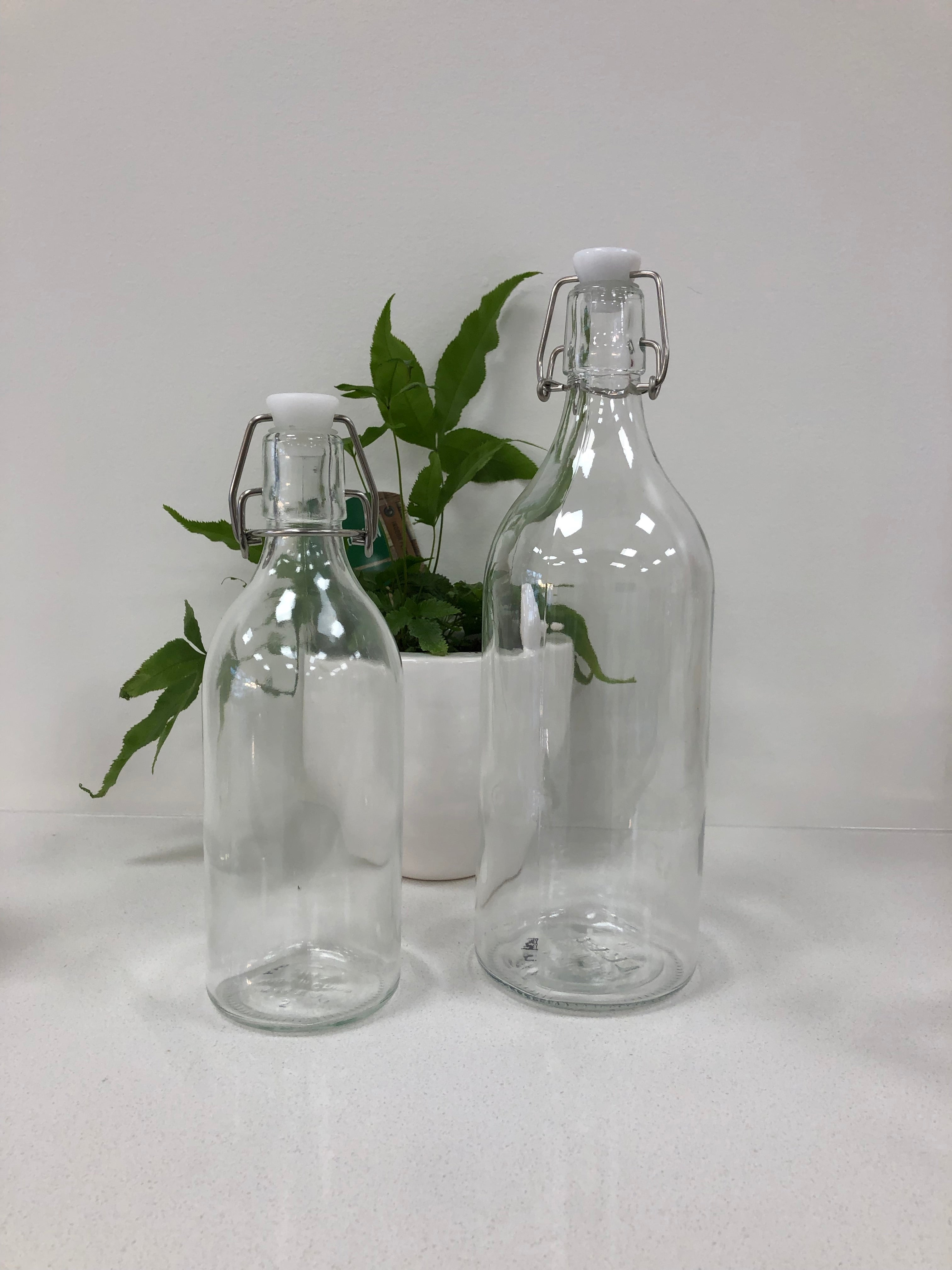 Glass Bottles with Swing Top