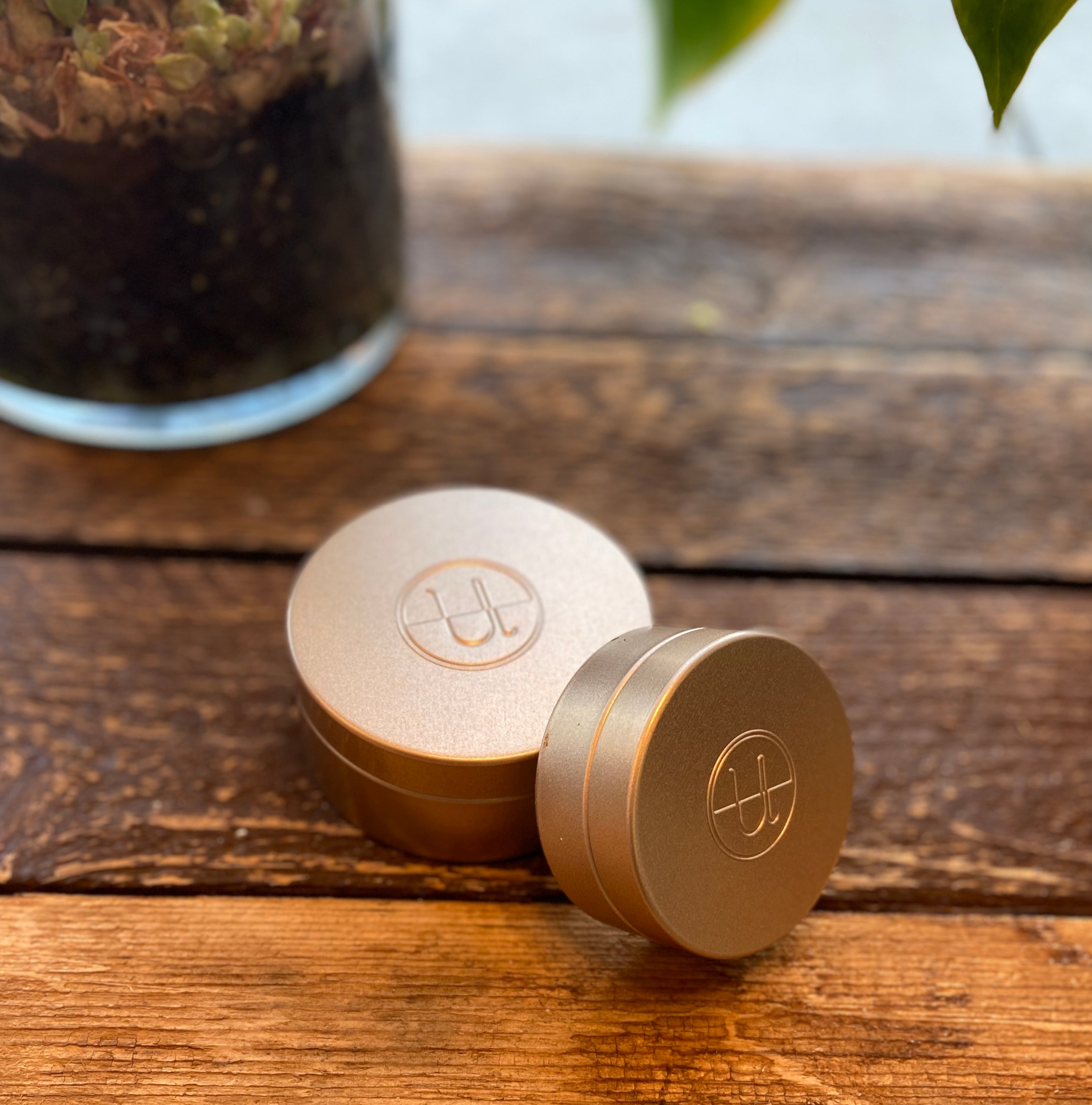 The Unwrapped Life Matte Gold Travel Tins