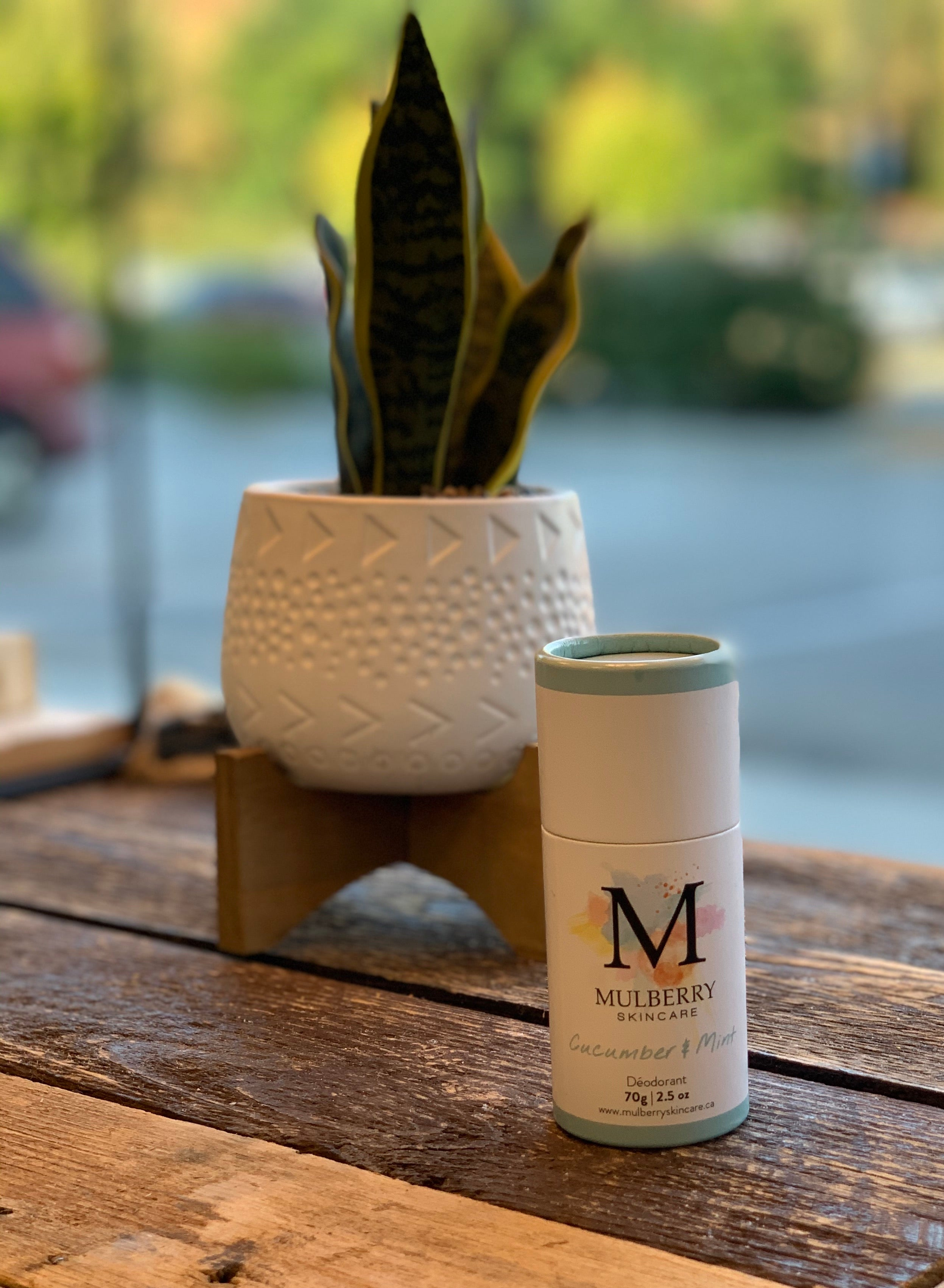 Mulberry Skin Care Deodorant- Cucumber Mint