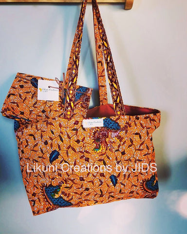 Tote Bag - Orangy- For Chilling Girls