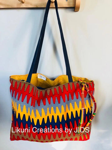 Tote Bag - Zig-Zag- For Chilling Girls