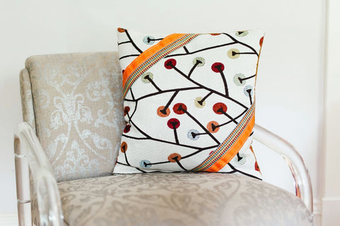 African Decorative Pillow - Branch