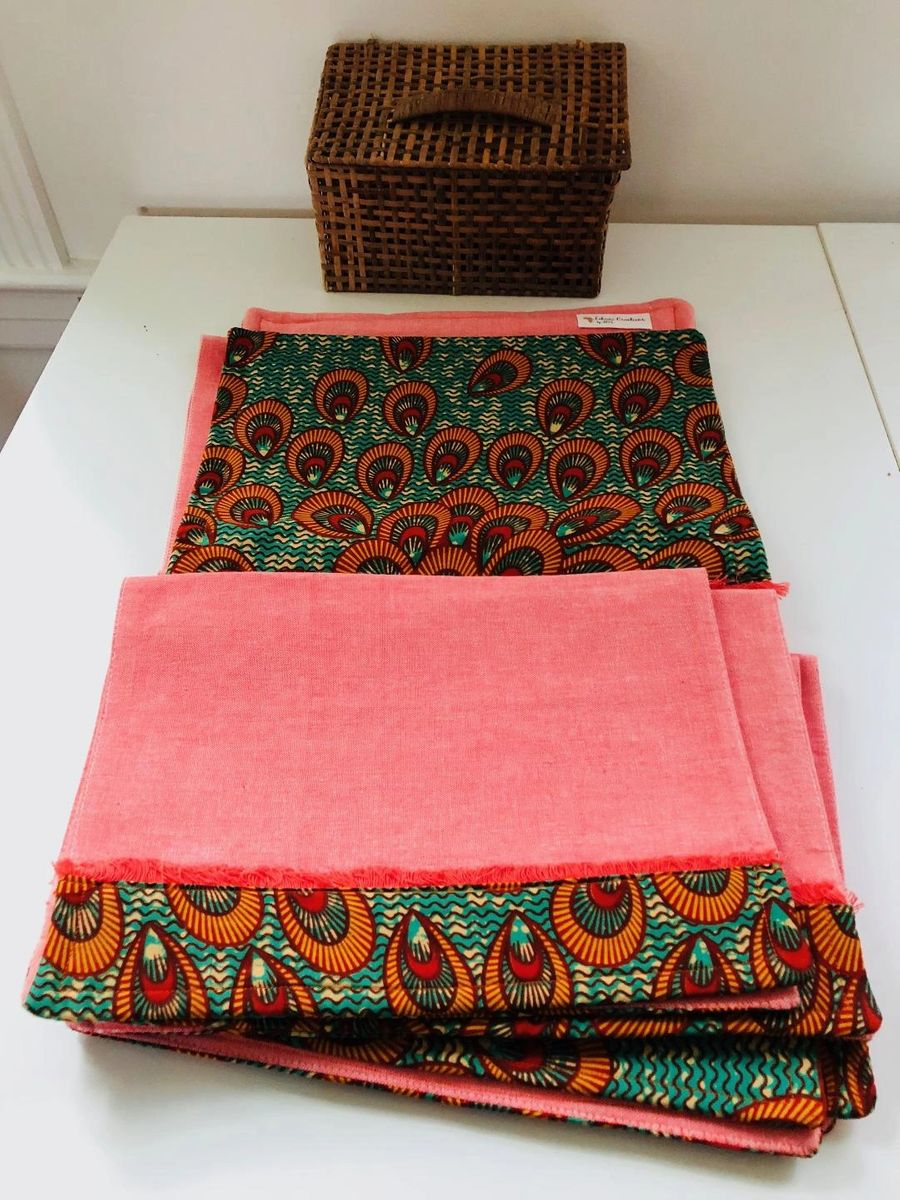 Kivu Runner and Placemats Set - African Inspired Home Decor