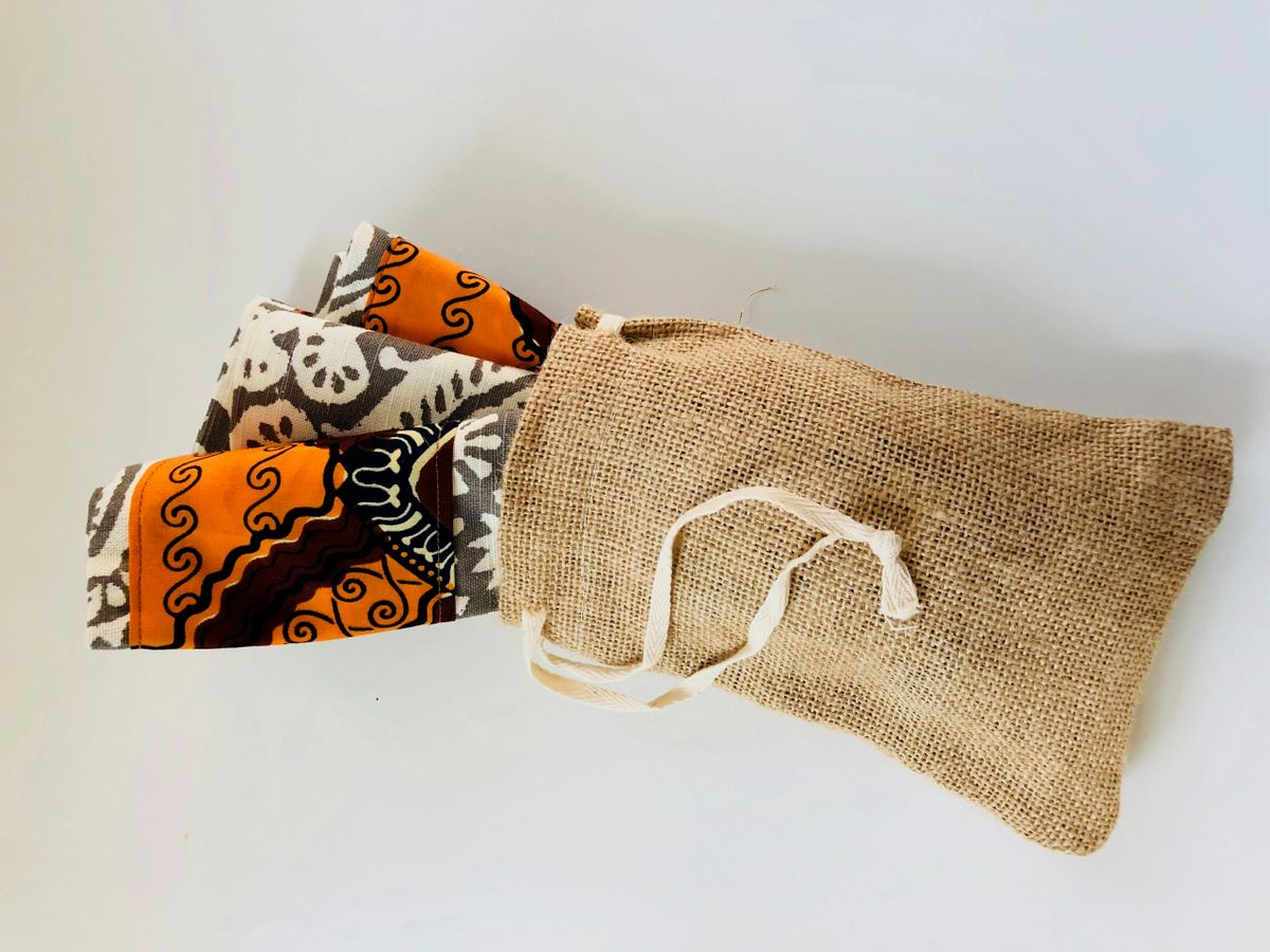 Nzango  African Inspired Home Decor (Fabric Napkin set)