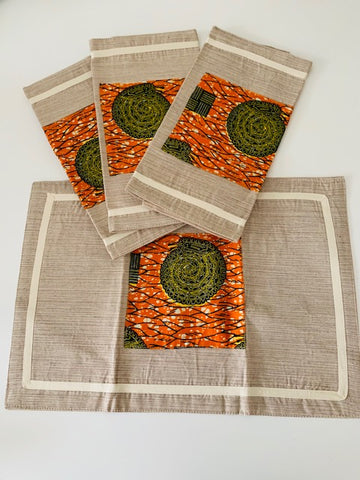 Mbembe Placemats- African Inspired Home Decor