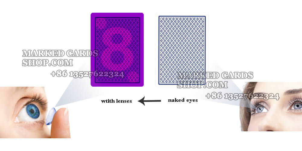 copag jumbo and regular face marked cards for lenses