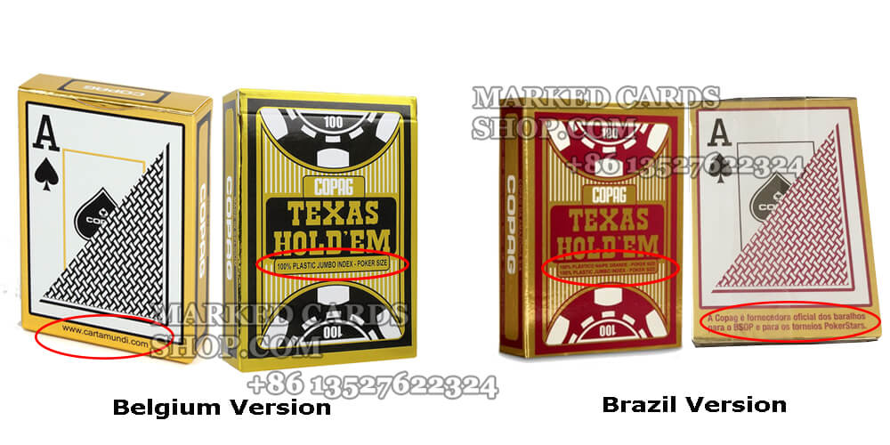 copag texas holdem belgium and brazil version