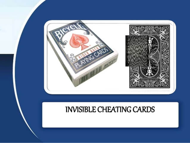 invisible barcode cheating playing cards