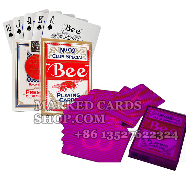 Bee Marked Deck for Sale with Marked Cards Reader Contact Lenses