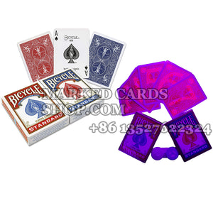 Bicycle marked cards for cards cheating