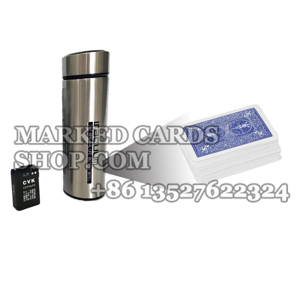 Water Bottle Scanner for Poker Analyzer and Barcode Marked Deck