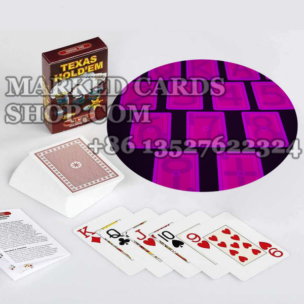Invisible Ink Dal Negro Texas Holdem Cards Read by Luminous Contact Lenses