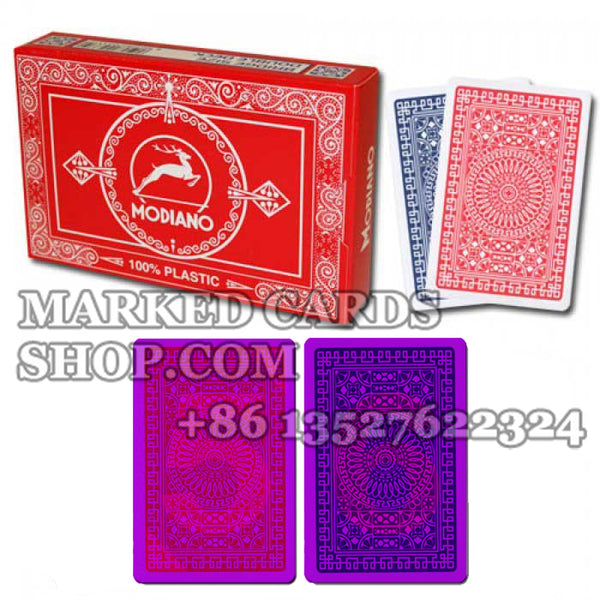 Modiano Club Bridge Poker Regular Index Marking Poker Cards