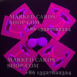 Contact lenses card marking Bumble Bee poker deck