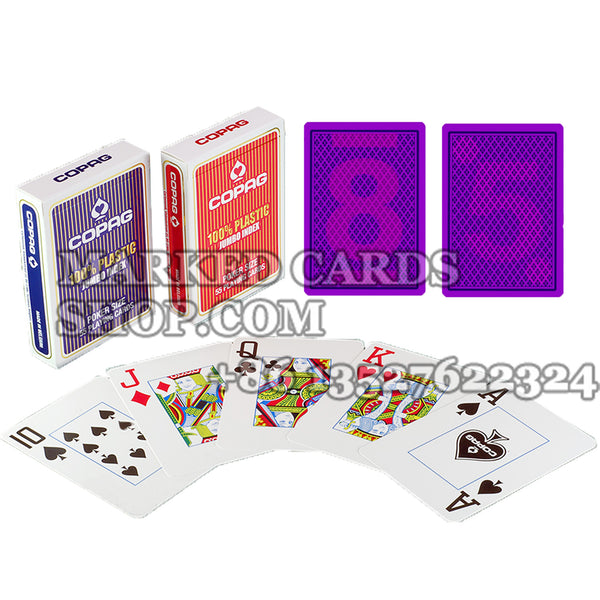 Copag Jumbo Face Plastic Cards with Invisible Ink to See Cards Markings
