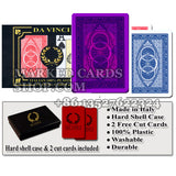 Da Vinci Ruote 100% Italian Plastic marked poker cards