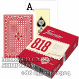 Founier 818 marked poker deck paper plastic coated playing cards