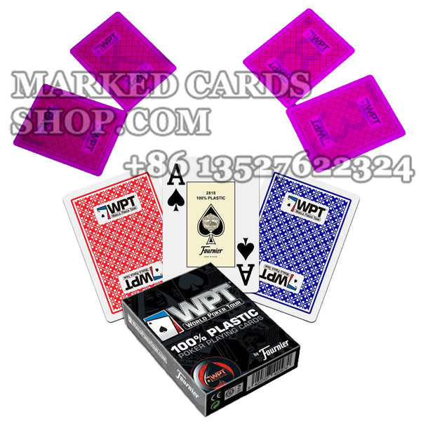 Plastic World Poker Tour Marked Deck of Cards For Luminous Contact Lenses