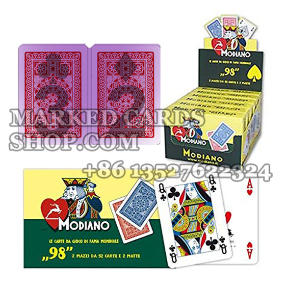 Modiano No.98 Marked Playing Cards with Poker Size 4-Pip Index