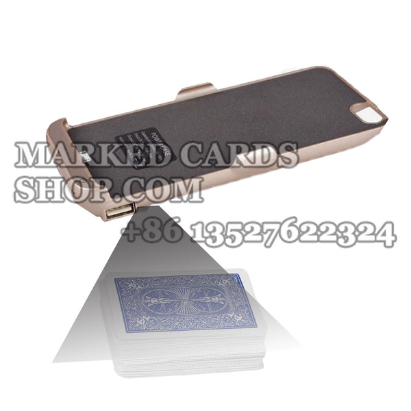 IPhone Power Bank Barcode Poker Scanner for Two Deck Cards