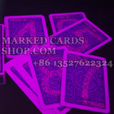 Infrared cheating marked cards Modiano Texas Holdem poker