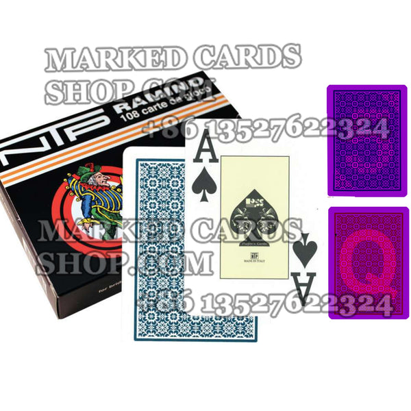 Dal Negro NTP Marked Cards Poker/Narrow Size Poker Cards for Contact Lenses