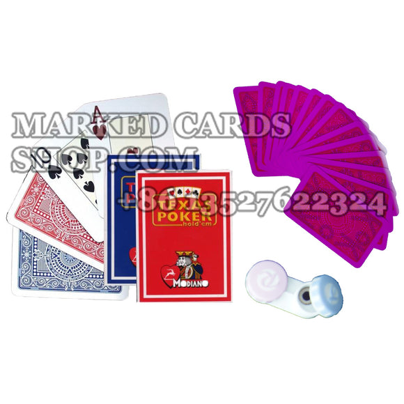 Infrared contact lenses marked cards Modiano Texas Poker