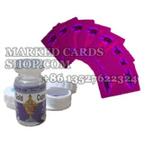 Infrared marked playing cards contact lenses