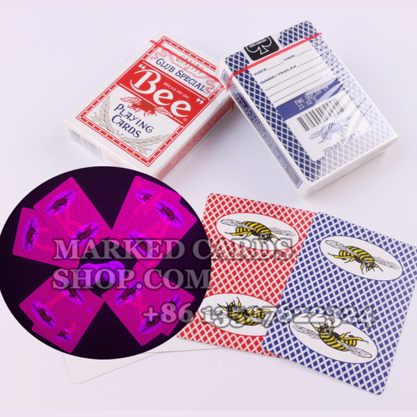 Casino Bumble Bee Playing Cards Cheating with Marked Cards Contact Lenses