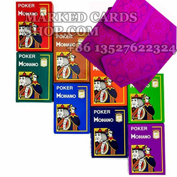 Modiano Cristallo Marked Poker Cards 4-Pip Jumbo Index 8 Color Cards