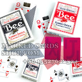 Jumbo Bee marked cards poker size casino cards
