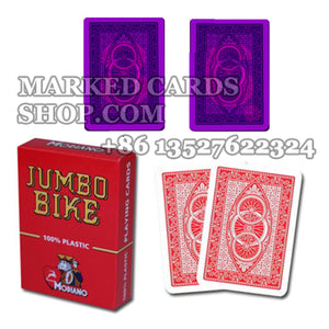 Luminous marked deck of Modiano Jumbo Bike contact lenses marked cards