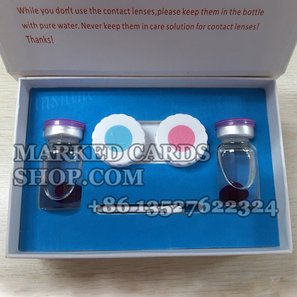 Marked cards cheat contact lenses