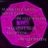 Marked poker cards Fournier WPT for invisible ink contact lenses