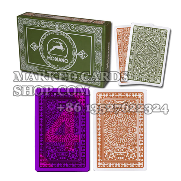 Modiano Club Poker Regular Index Invisible Ink Deck for Luminous Contact Lenses