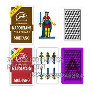 Modiano Napoletane Italian Playing Cards Luminous Marking Cards