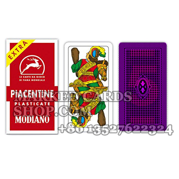 Modiano Piacentine Plastic Cards Regular Index for IR Poker Camera