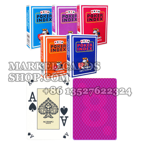 Modiano Poker Index Marked Cards with Regular Index on 4 Corners