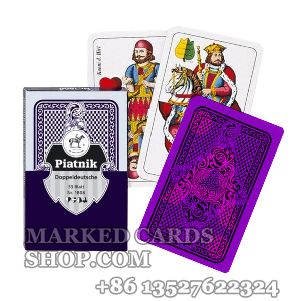 Piatnik Doppeldeutsche Playing Cards Deck with Casino Cheating Marks