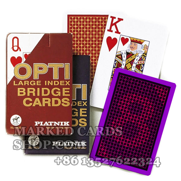 Piatnik Playing Cards Opti Poker Invisible Marking for Cards Cheating