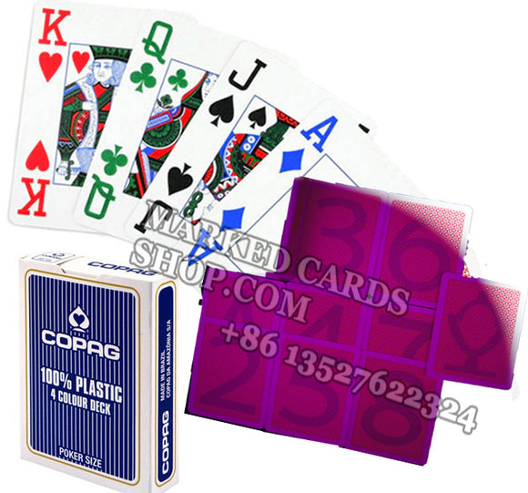 Plastic Copag 4 color marked cards