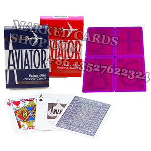 Spy marked cards Aviator with invisible ink