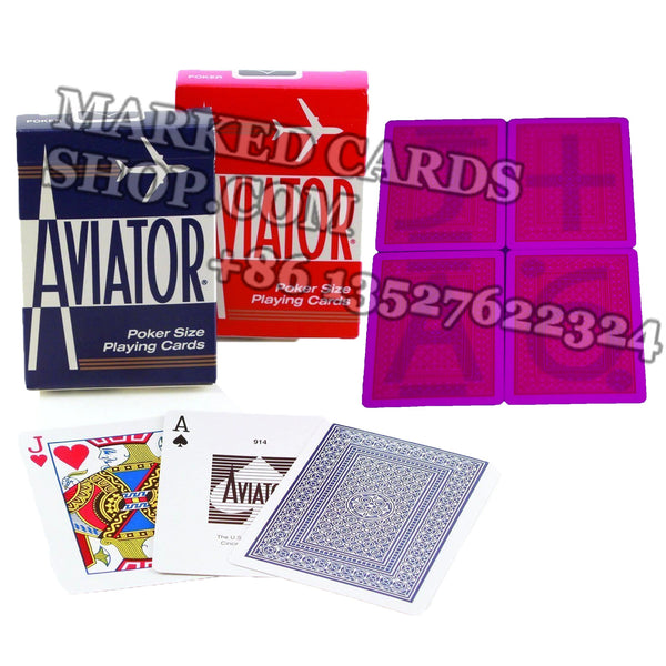 Invisible Aviator Marking Cards with Jumbo/Standard Index 52 Cards