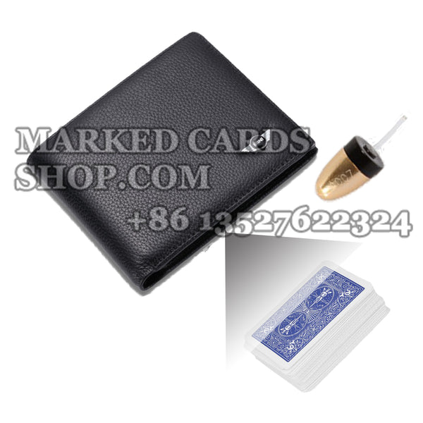 Bifold Wallet Poker Cheating Camera with 20-40 CM Scanning Distance