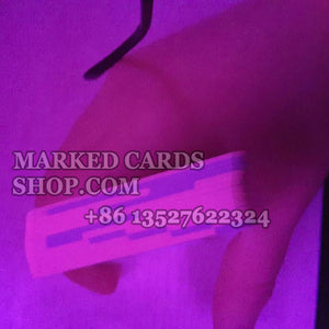 Invisible ink barcode marked cards