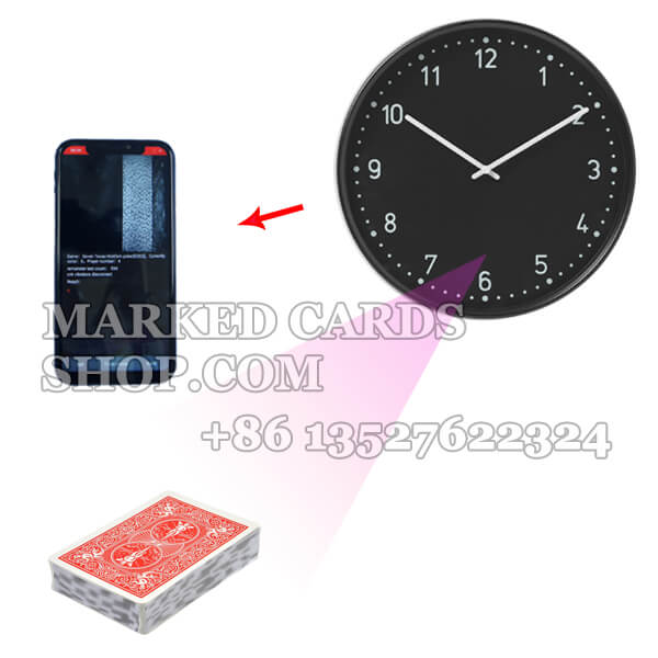 Clock Long Distance Camera for Poker Gambling Cheating