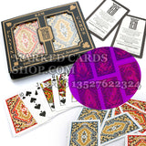 KEM Paisley invisible ink marking poker deck