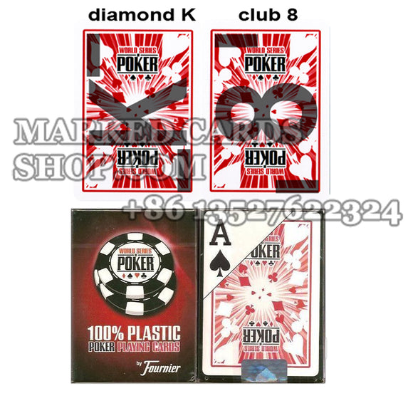 ir contact lenses marked cards Fournier WSOP playing cards
