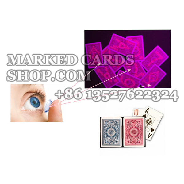 Back-Side Marked Cards Contact Lenses