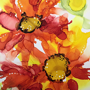 Floral Alcohol Inks